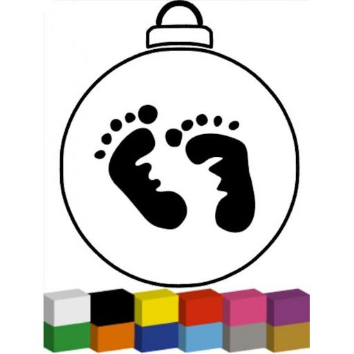 Baby Footprint for Bauble Decal / Sticker/ Graphic