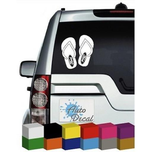 Flip Flop Ford Logo Vinyl Car, Van, 4x4 Decal / Sticker / Graphic