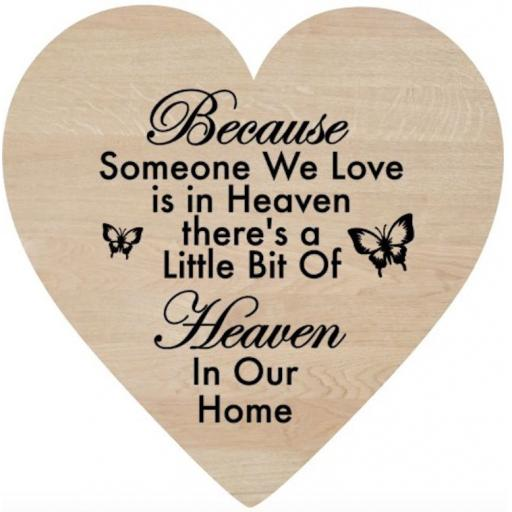Because someone Wooden Heart Decal / Sticker/ Graphic