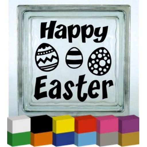 Happy Easter Vinyl Glass Block / Photo Frame Decal / Sticker / Graphic