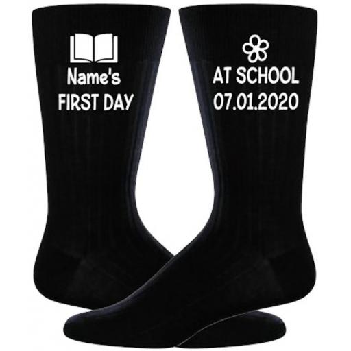 First day at school Sock Personalised Heat Transfer Vinyl ONLY