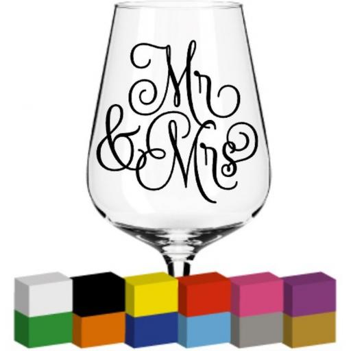 Mr & Mrs Glass / Mug / Cup Decal / Sticker / Graphic