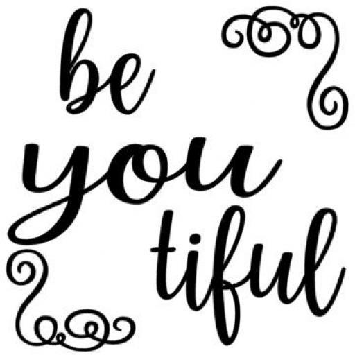 be you tiful Jar / Mug / Cup Decal / Sticker / Graphic