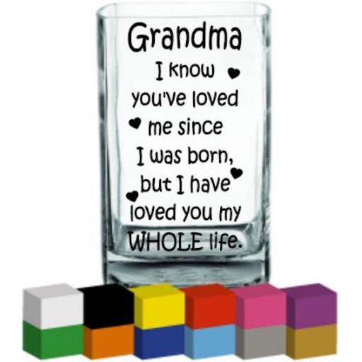 Grandma Vase Decal / Sticker / Graphic