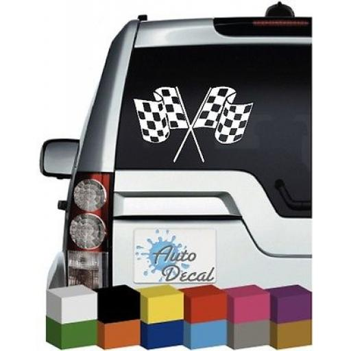 Chequered Flags Vinyl Car, Van, 4x4 Bumper, Decal / Sticker / Graphic