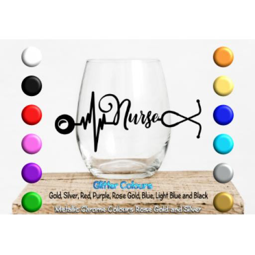 Nurse Stethoscope Glass / Mug Decal / Sticker / Graphic