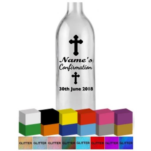 Confirmation Personalised Bottle Vinyl Decal / Sticker / Graphic