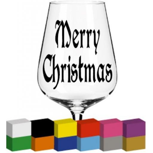 Merry Christmas Glass / Mug / Cup Decal / Sticker / Graphic