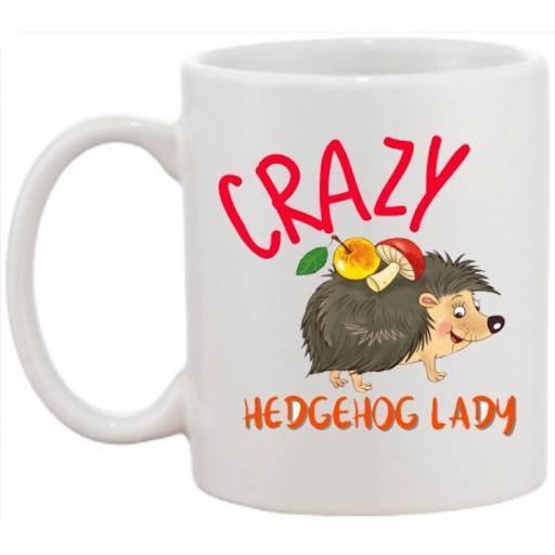 Crazy Hedgehog Lady Mug