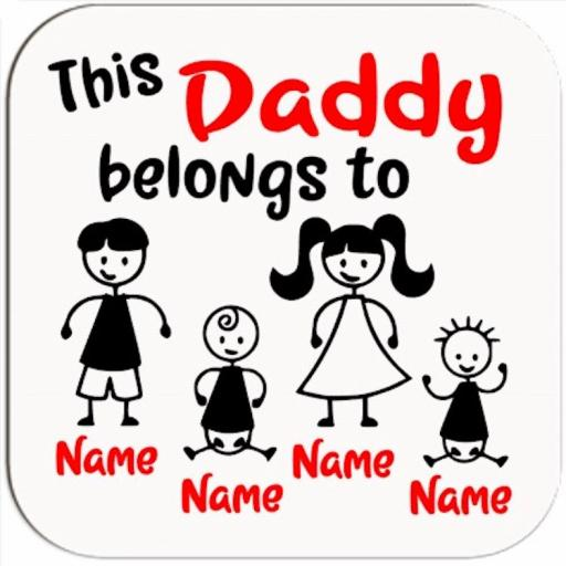 This Daddy / Mummy belongs to (Personalised) Coaster