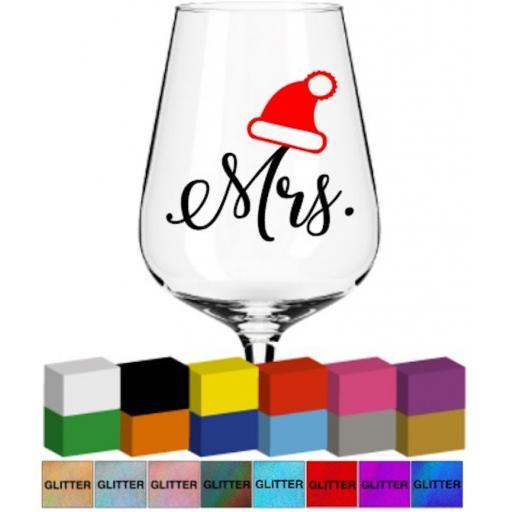 Mrs Christmas Glass / Mug Decal / Sticker / Graphic