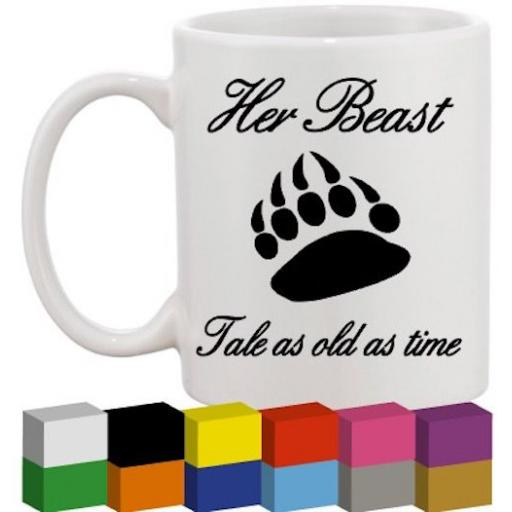 Her Beast Glass / Mug / Cup Decal / Sticker / Graphic