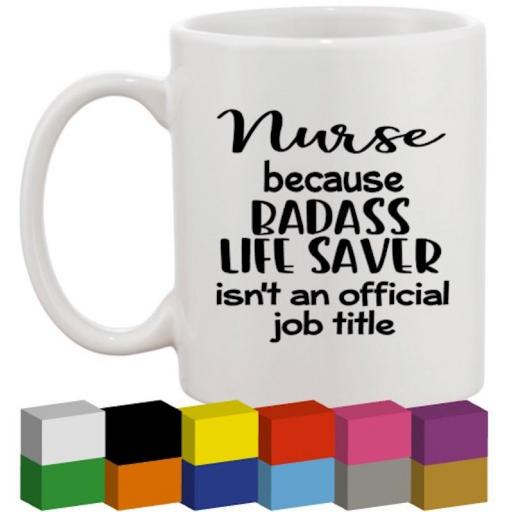 Nurse Glass / Mug / Cup Decal / Sticker / Graphic
