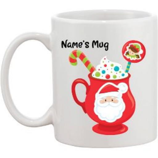 Christmas Personalised Mug Santa, Reindeer, Bear, Snowman or Penguin