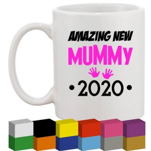 Amazing New Mummy Glass / Mug / Cup Decal / Sticker / Graphic