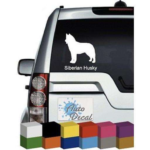 Siberian Husky Dog Vinyl Car Animal Window Bumper Sticker / Graphic