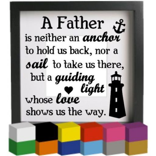 A Father Vinyl Glass Block / Photo Frame Decal / Sticker/ Graphic