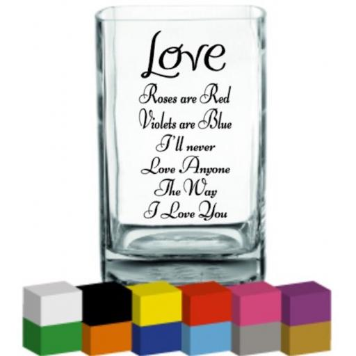 Love Vase Decal / Sticker / Graphic