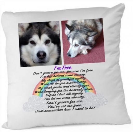 I'm free Memorial Cushion Cover