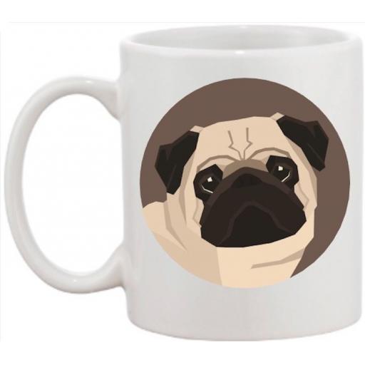 Pug Head Dog Mug