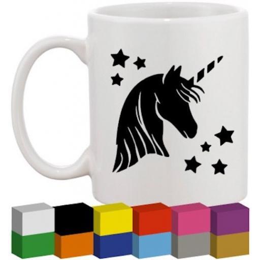 Unicorn Head Glass / Mug / Cup Decal / Sticker / Graphic