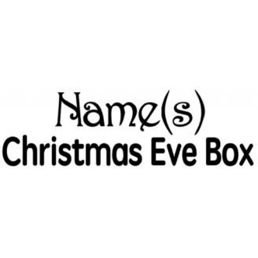 Christmas Eve Box Decal / Sticker/ Graphic
