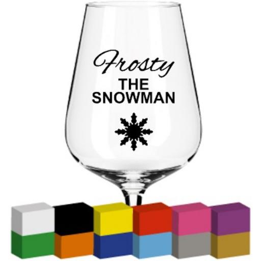 Frosty the Snowman Glass / Mug / Cup Decal / Sticker / Graphic