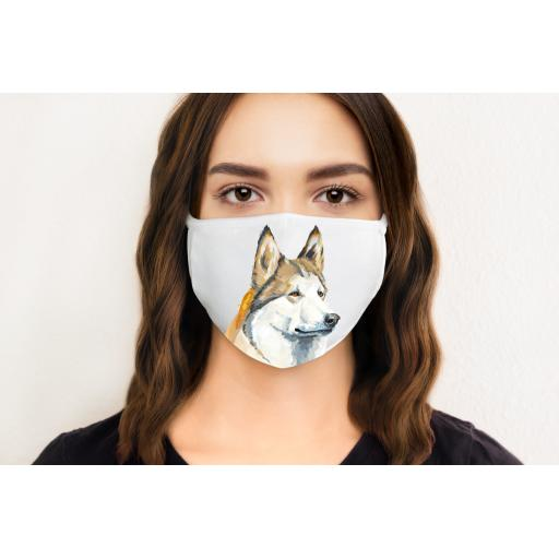 Husky Dog Face Mask