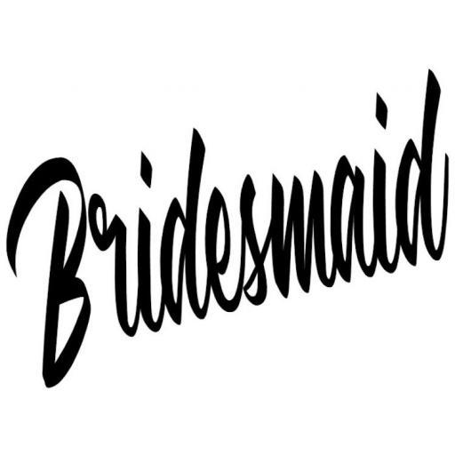 Bridesmaid Heat Transfer Vinyl