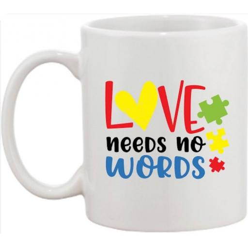 Love needs no words Mug