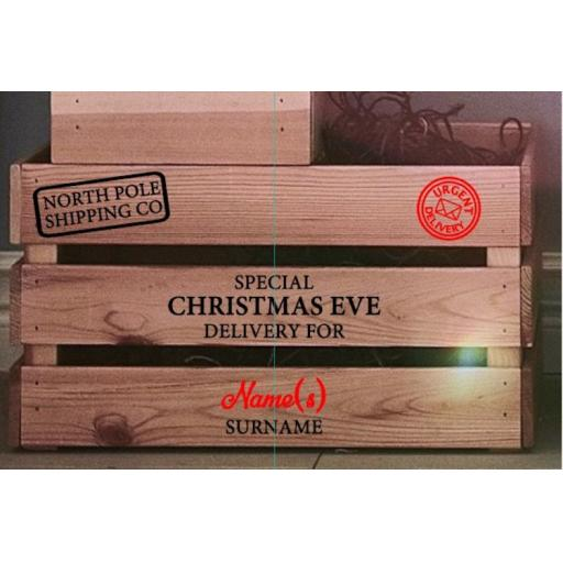 Christmas Eve Box V4 Decal / Sticker/ Graphic