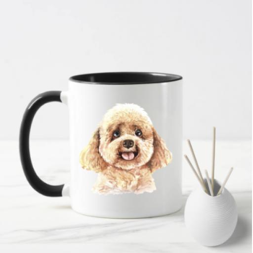 Poodle V2 Dog Mug