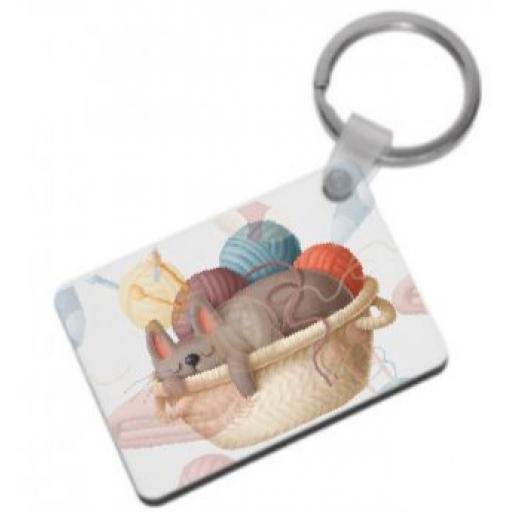 Eat Sleep Knit Keyring