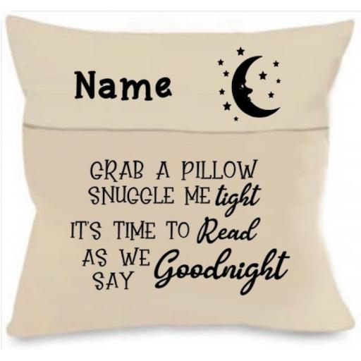 Grab a pillow Cushion Cover with Pocket Personalised