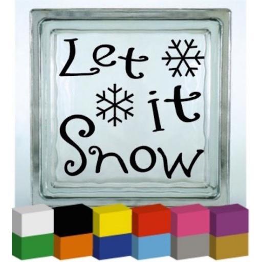 Let it Snow Vinyl Glass Block / Photo Frame Decal / Sticker / Graphic