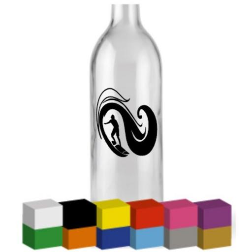 Surfer Bottle Vinyl Decal / Sticker / Graphic
