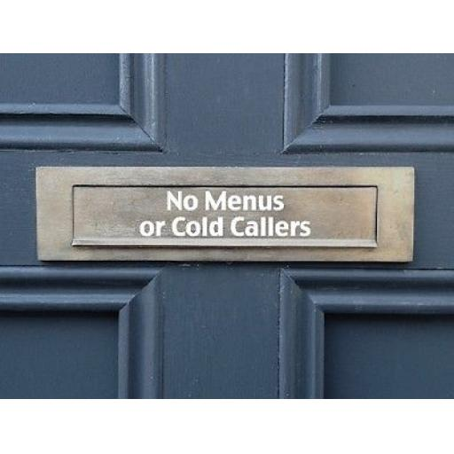 No Menus or Cold Callers Letterbox Decal / Sticker / Graphic