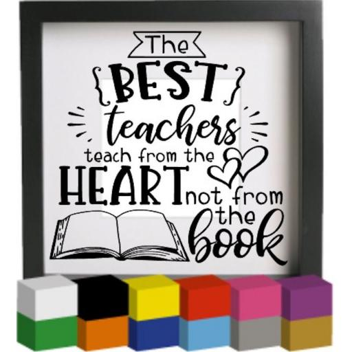 The best teachers V2 Vinyl Glass Block / Photo Frame Decal / Sticker / Graphic