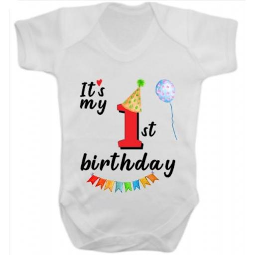 It's my Number Birthday Printed Short Sleeved Body Suit
