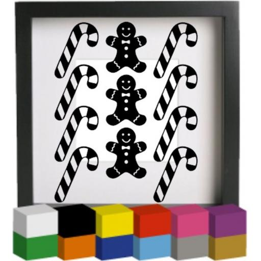 Candy Canes and Gingerbread men Decal / Sticker/ Graphic