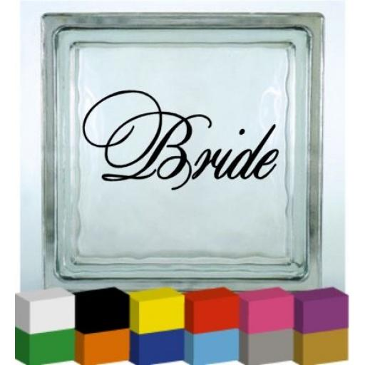 Bride Vinyl Glass Block / Photo Frame Decal / Sticker
