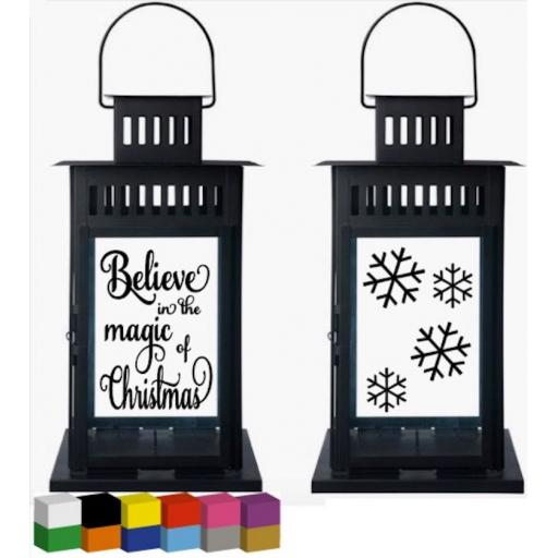 Believe in the magic of Christmas Lantern Decal / Sticker / Graphic