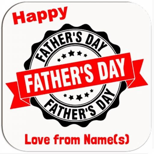 Happy Father's Day Coaster Personalised