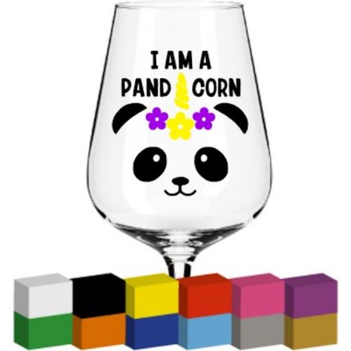 I am a pand corn Glass / Mug / Cup Decal / Sticker / Graphic