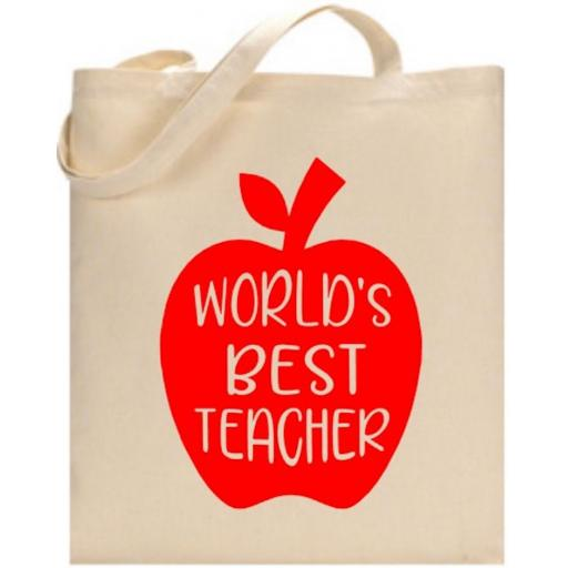 World's Best Teacher Bag