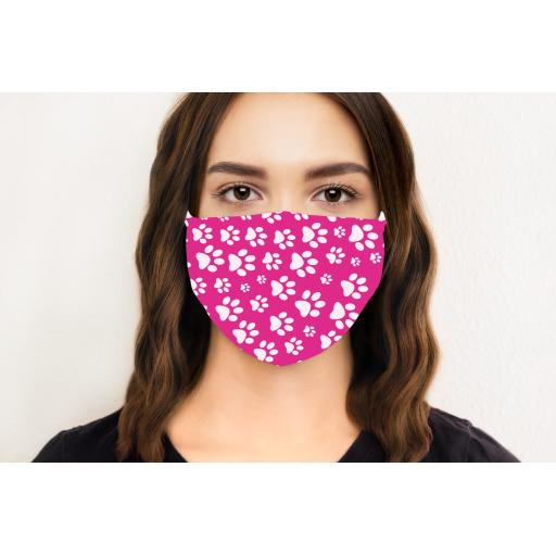 Paw Print Face Mask