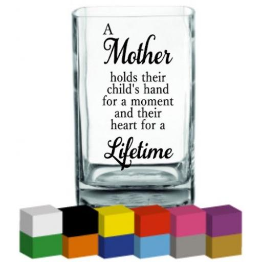 A Mother holds Vase Decal / Sticker / Graphic