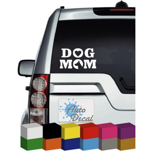 Dog Mom Vinyl Window Car Bumper, Decal / Sticker / Graphic