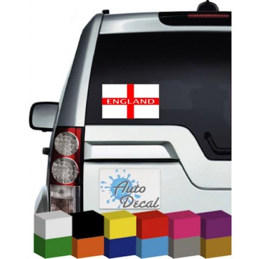 England Flag Vinyl Car Window Decal / Sticker / Graphic