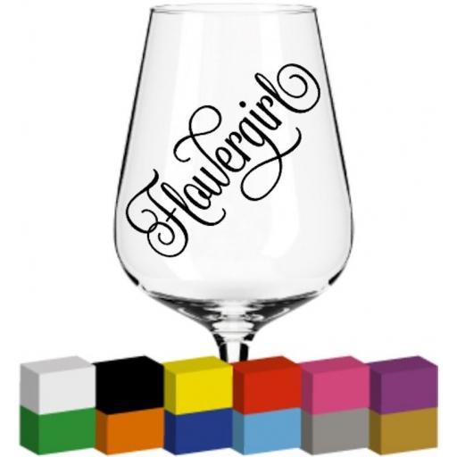 Flowergirl Glass / Mug / Cup Decal / Sticker / Graphic